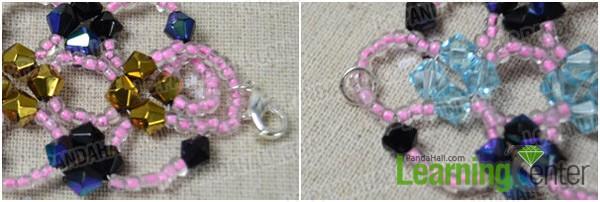 Step 4: Finish off the beaded bracelet