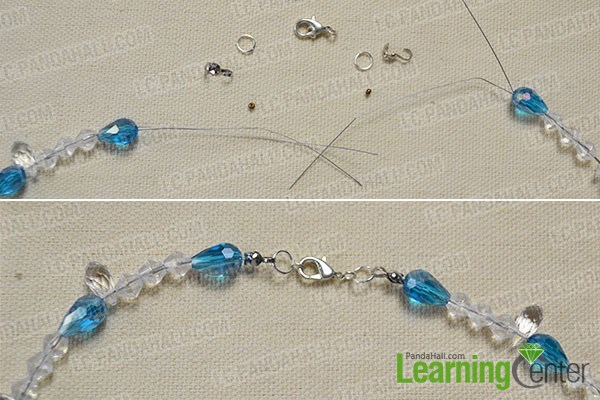 How to Make a Beaded Butterfly Charm Statement Necklace 9
