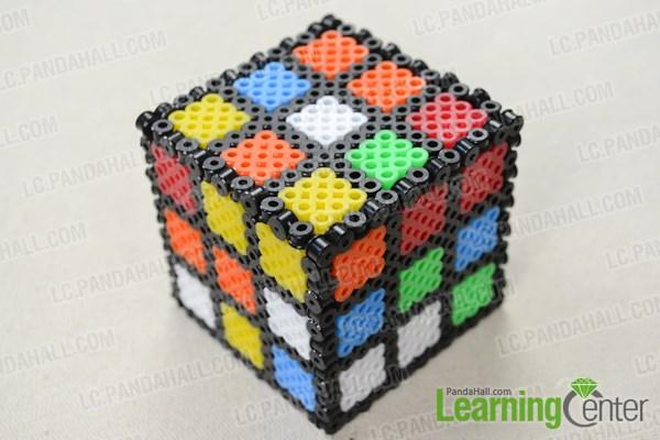 magic cube crafts on how to make 3d perler bead designs pandahall com