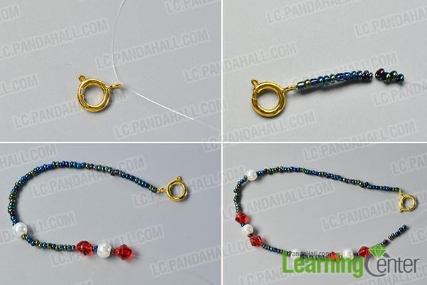 Make a seed beads strand