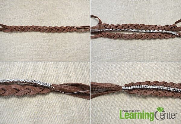 How to Make Cool Braided Chain Bracelet Tutorial 3