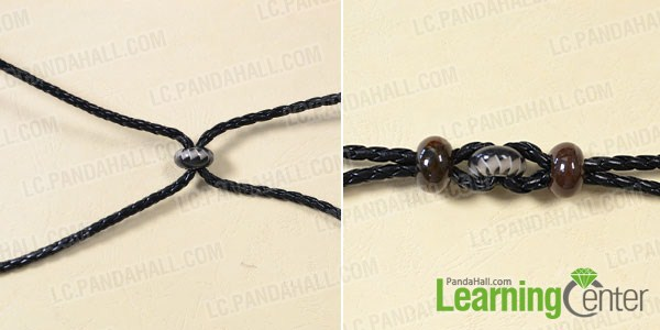 make the main part of the black cord braided bracelet