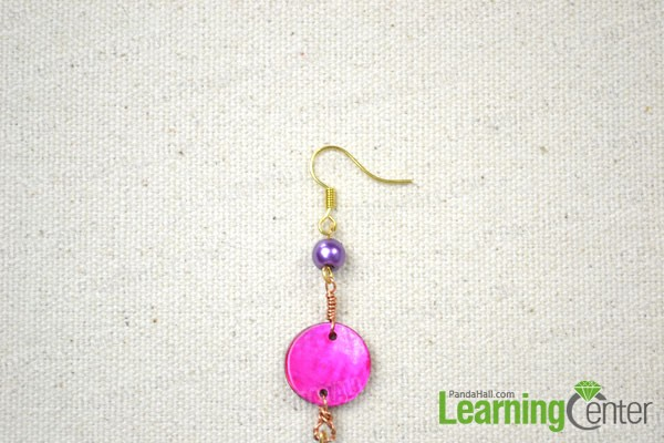 finished the simple beaded earrings for beginners