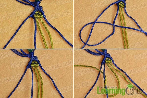 Make the ninth part of the ethnic braided friendship bracelet