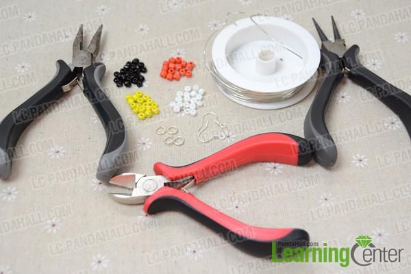Necessities for my Native American beaded hoop earrings: