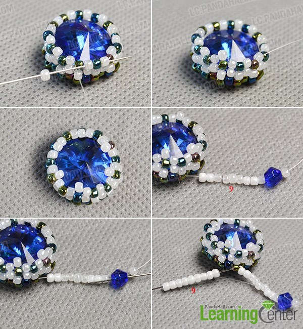 Finish the middle bead pattern