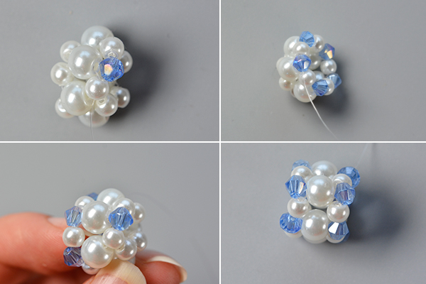Step 2: Decorate the pearl beaded patterns
