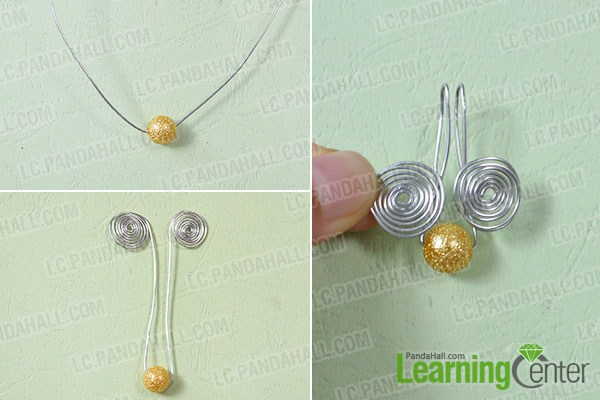 make the main part of the easy wire wrapped earrings