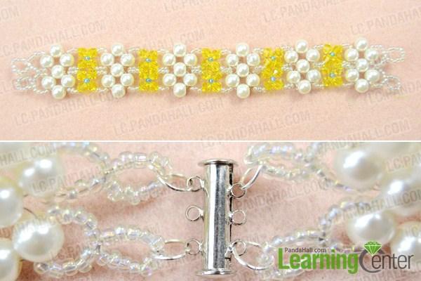 finish crystal pearl bracelet