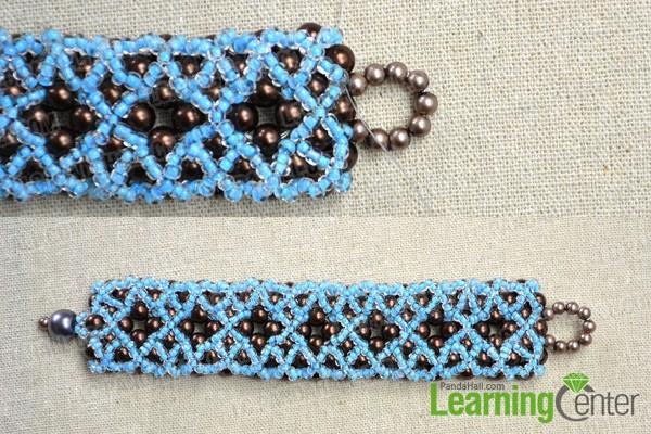 finish the right angle weave bracelet