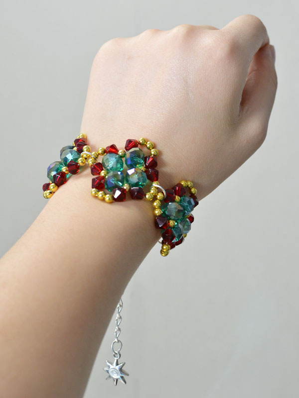 bracelet beads bicone swarovski crystal making youtube video watch glass tutorial for