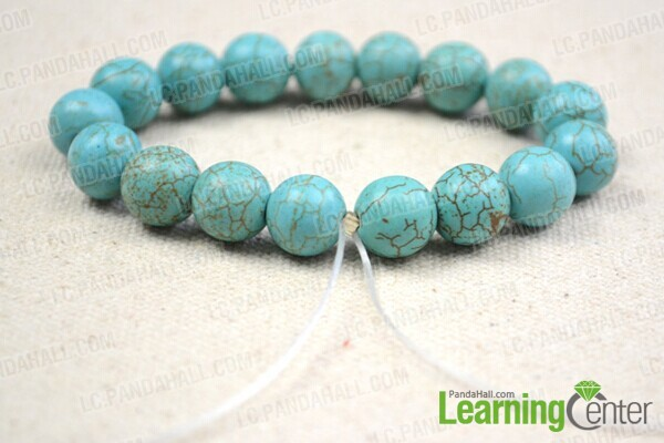 string turquoise beads