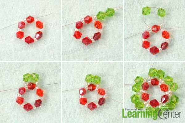 Make the petals for the beaded snowflake earrings