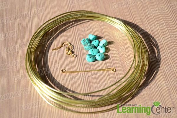 materials in beaded hoop earrings