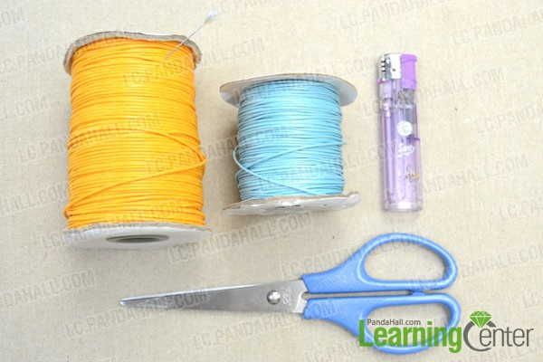 supplies needed in making lark's head knot friendship bracelet