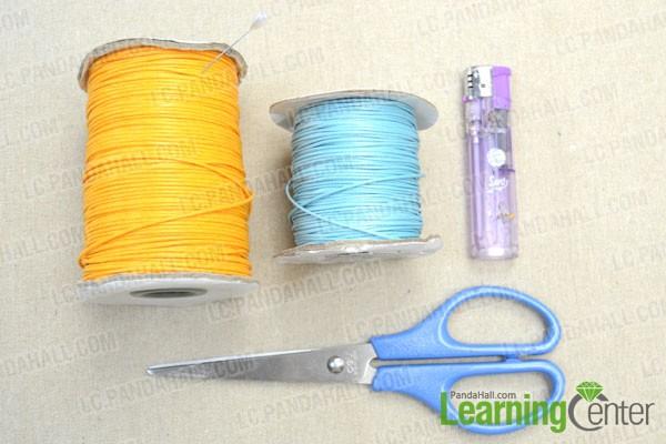 supplies needed in making lark's head knot friendship bracelet