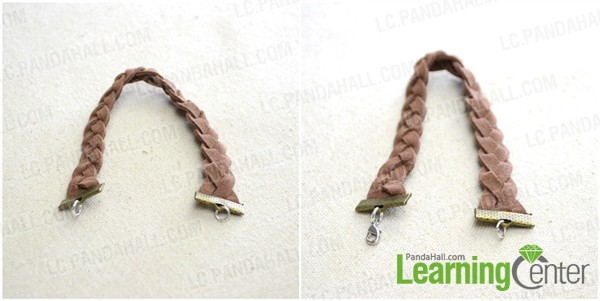 make main part of suede bracelet