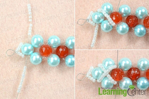Finish making bead weaving necklace patterns