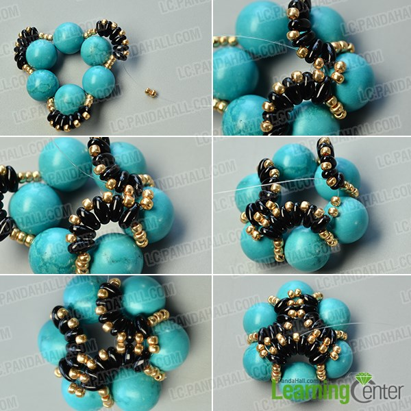 make the third part of the flower beads ring