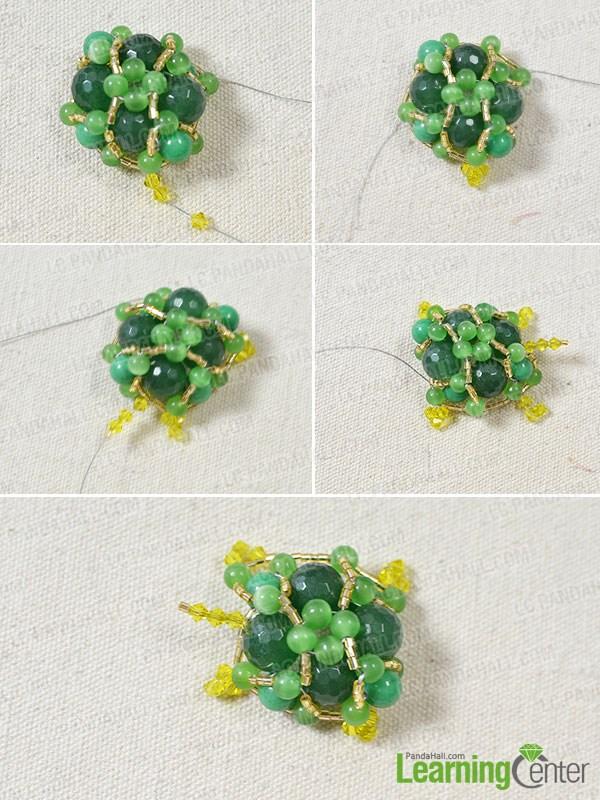 Make four legs of the tortoise