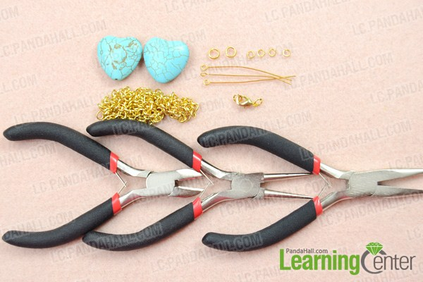 Materials on how to make your own chain necklace