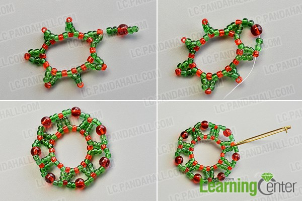 Make the outer hoop of the Christmas hoop earrings