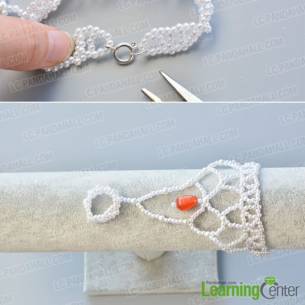 Make the sixth part of the chic pearl bracelet