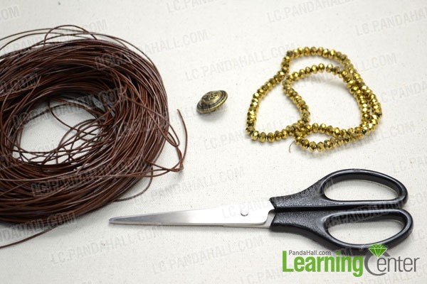 Supplies needed in the 3-strand bracelet