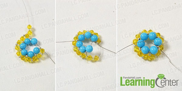 make the second part of the handmade beaded flower ring