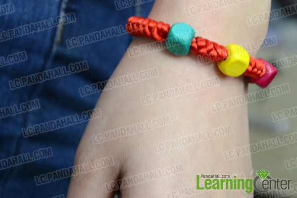 Finally the Chinese snake knot bracelet looks like this: