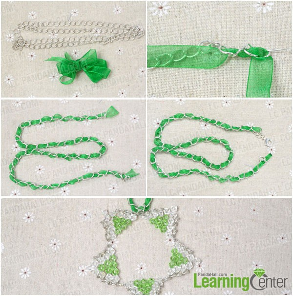 finish the beaded star necklace