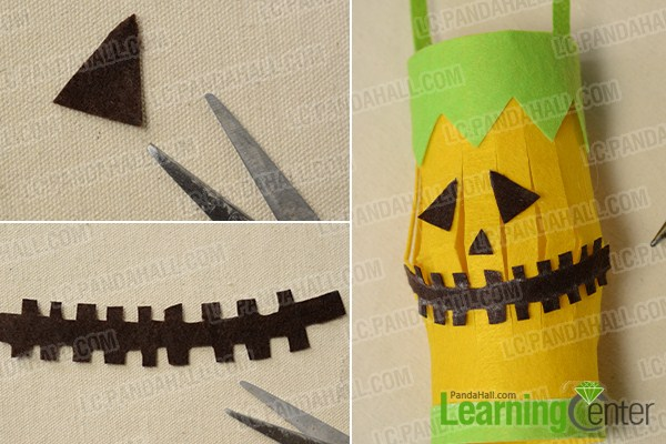 make the middle part of the Halloween lantern craft