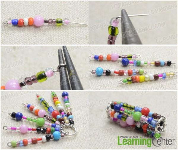 Step 1: Make seed bead waterwheel