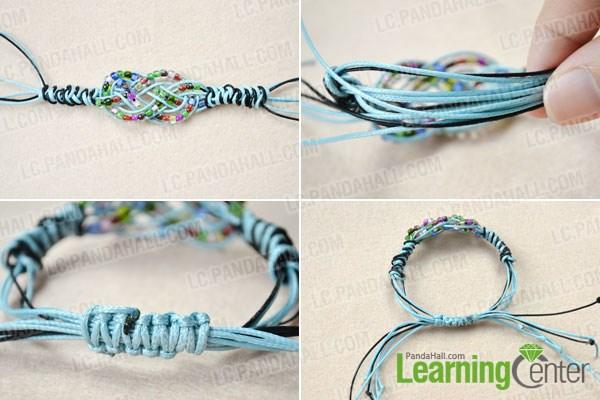 how to make a sailor knot friendship bracelet with pony beads. Black Bedroom Furniture Sets. Home Design Ideas