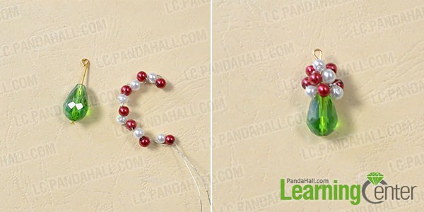 make the main part of the red and green earrings2