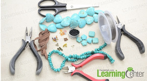 Necessities for multi-strand turquoise bead necklace: