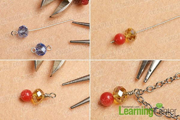 make glass and jade beads dangles