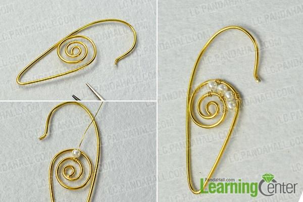 twist the basic wire pattern of the hoop earrings