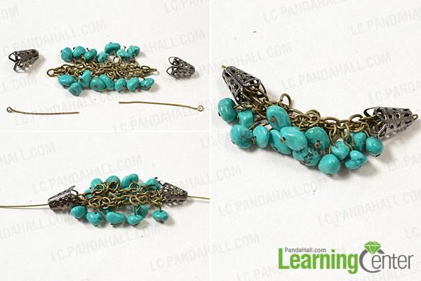 make the rest part of the handmade turquoise bead bracelet