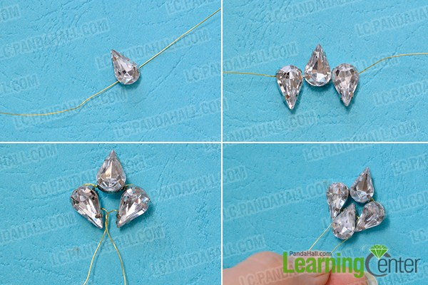 make the first part of the acrylic bead drop earrings