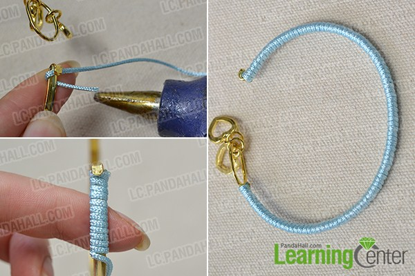 make 4 color nylon cord friendship bracelets