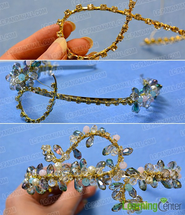 make the rest part of the bling beaded headband