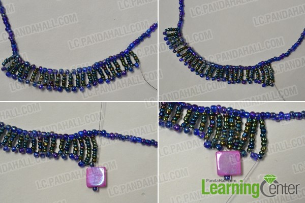 Enroll in pink shell beads