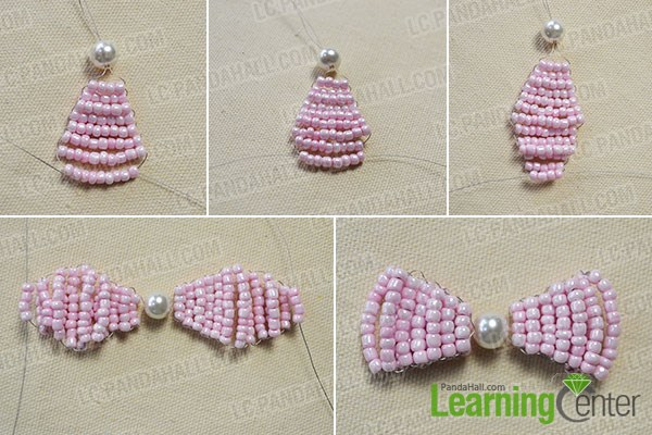 How to Make Your Own Stitch Pink Beaded Hair Bows Tutorial 3