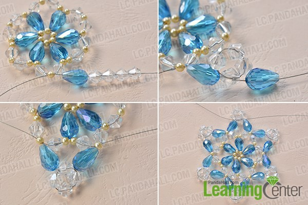 Bead the snowflake pattern
