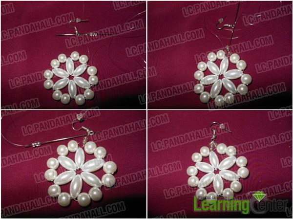 Make beaded snowflake earrings