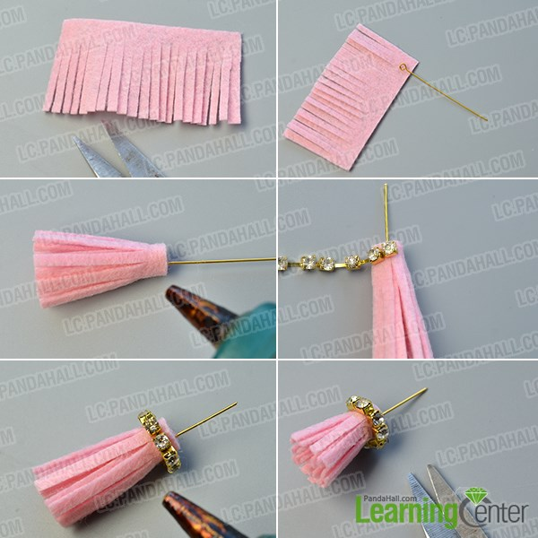 Make the felt tassels