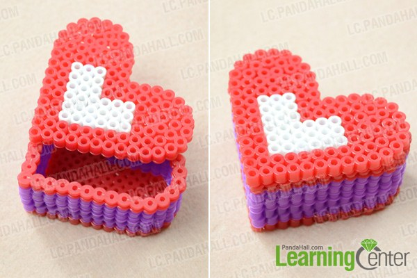 how to make a perler bead box