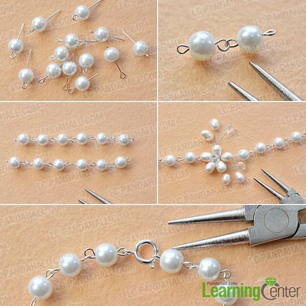 Finish the simple and elegant pearl bracelet