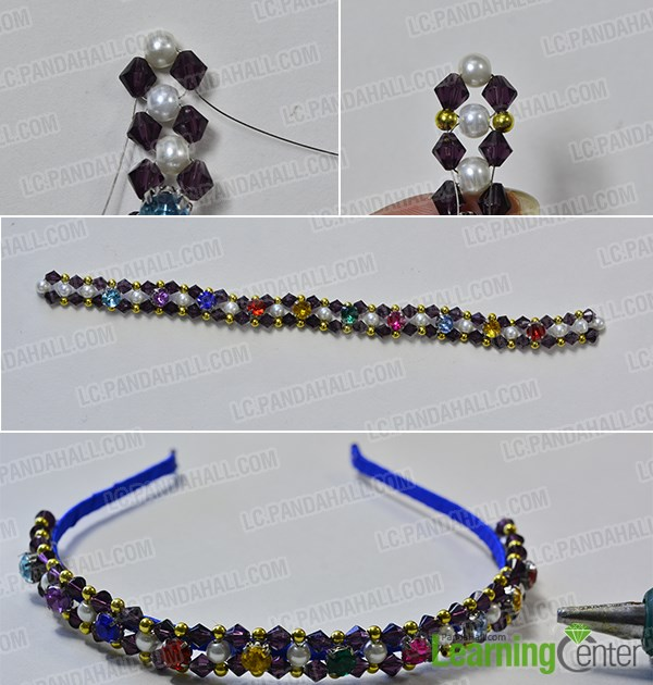 Finish this glass beaded headband